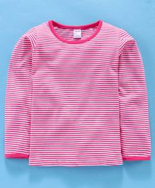 Tango Full Sleeves Striped Tee - Pink
