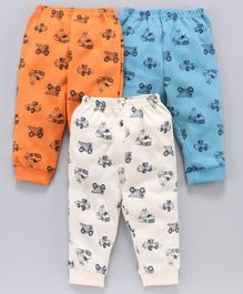 Zero Lounge Pants Vehicle Print Pack of 3 - Multicolor