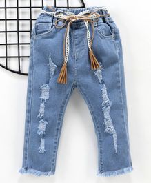 Little One Full Length Ripped Jeans - Blue