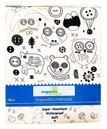 Organic Magic Disposable Underpads Sheets - Pack of 4 Sheets