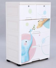 Storage Cabinet - 5 Racks - White