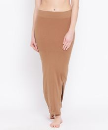 Clovia Solid Shape Wear With Side Slit - Brown