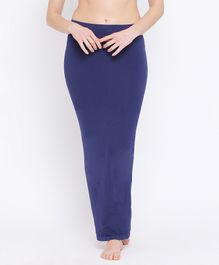 Clovia Solid Shape Wear With Side Slit - Blue