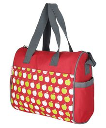 VParents Dimpy Dimpy Multipurpose Diaper Bag Cum Mother Bag - Red