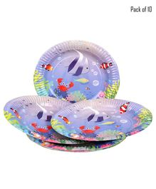 Funcart Under The Sea Theme Plate - Pack of 10