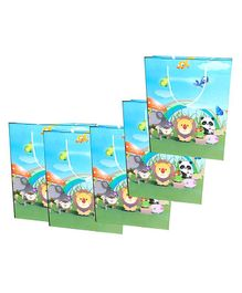 Funcart Jungle Print Paper Gift Bag Blue - Pack of 5