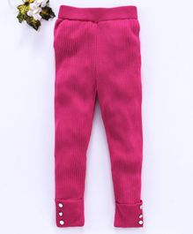 Vitamins Full Length Jeggings - Hot Pink