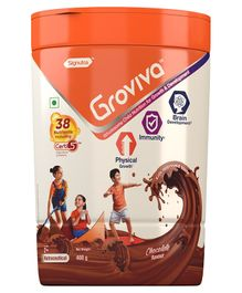 Groviva Child Nutrition Chocolate Flavour Supplement Jar - 400 gm