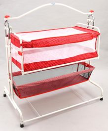 New Natraj Compact Cradle With Basket Star Print - Red