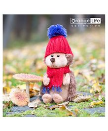 Orange Toys Prickle The Hedgehog In Red Hat - Height 25 cm