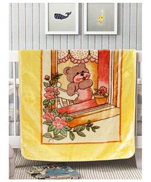 A Homes Grace Soft and Cozy Mink Winter Baby Blanket  - Yellow