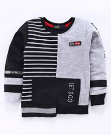 Tacos Striped Full Sleeves Tee - Grey