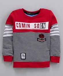Tacos Striped Full Sleeves Tee - Red