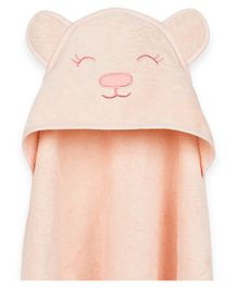 Masilo Grrly Bear Cotton Hooded Towel  - Pink