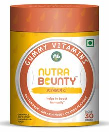 Nutrabounty Vitamin C For Strong Immunity In Orange Flavor - 30 Gummies