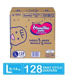 MamyPoko Extra Absorb Pant Style Diapers Large - 128 Pieces