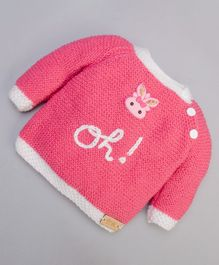 The Original Knit Oh Pattern Full Sleeves Sweater - Rose Pink