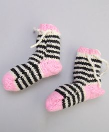 The Original Knit Striped Socks - Pink