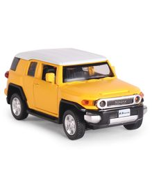 Innovador Die Cast Pull Back Action Toyota Pull Back Car - Yellow