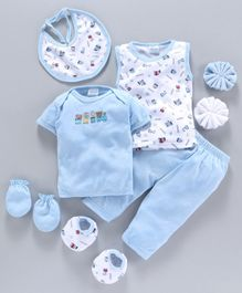 Montaly Infant Clothing Gift Set Pack of 8 - Blue