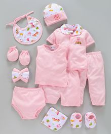 Montaly Infant Clothing Gift Set Pack of 14 - Pink