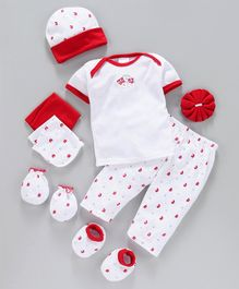 Montaly Infant Clothing Gift Set Pack of 8 - Red White