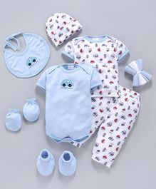Montaly Infant Clothing Gift Set Pack of 10 - BlueMontaly Infant Clothing Gift Set Pack of 10 - Blue