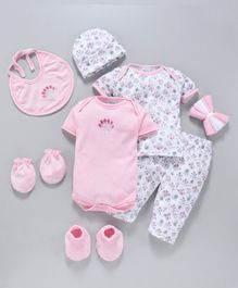 Montaly Infant Clothing Gift Set Pack of 10 - Pink
