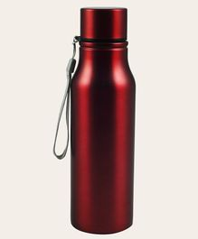 Pix Stainless Steel Water Bottle With Strap Red - 750 ml
