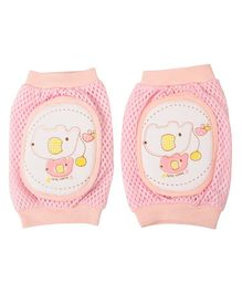 Yellow Bee Pink Elephant Protective Knee Pads for Toddlers - Pink