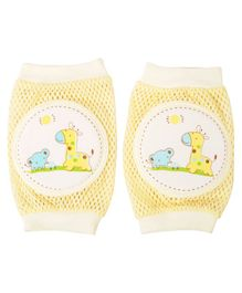 Yellow Bee Yellow Giraffe Protective Knee Pads for Toddlers - Yellow