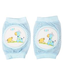 Yellow Bee Blue Giraffe Protective Knee Pads for Toddlers - Blue
