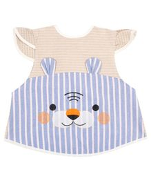 Yellow Bee Girls Stylish Apron - Blue & Peach