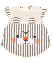 Yellow Bee Girls Stylish Apron - Brown