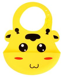 Yellow Bee Yellow Easy Clean Silicone Bib with Crumb Collector - Yellow