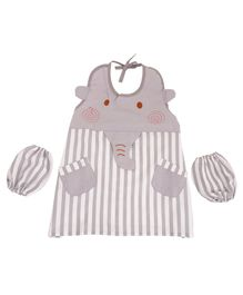 Yellow Bee Kids Elephant Mutli Purpose Art Smock - Brown