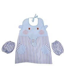 Yellow Bee Kids Elephant Mutli Purpose Art Smock with Pockets and Mittens - Multicolour