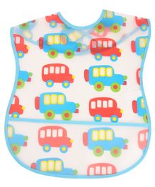 Yellow Bee Car Easy Clean Bib with Crumb Collector - Multicolour
