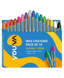 Youva Wax Crayons - Small Pack of 16