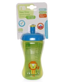 Mothercare Free Flow Sports Bottle Green - 340 ml