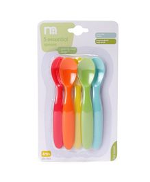 Mothercare 5 Essential Spoons Multicolour - Length 13.5 cm