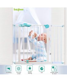 Baybee Auto Close Safety Gate with Extension Door - Green