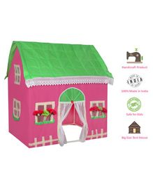 Playhood My Sweet Home Handicraft Tent House - Pink Green