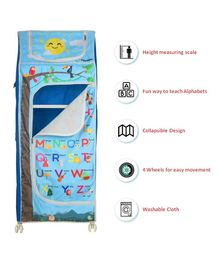Playhood 5 Shelves Foldable Wardrobe Cum Toy Storage Almira - Blue