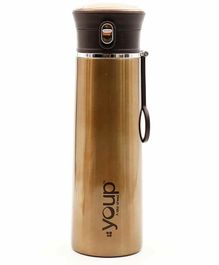 Youp Thermosteel Water Bottle Yp510 Gold - 500 ml