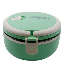 Youp Stainless Steel Round Shape Lunch Box - Green