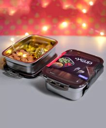 Youp Stainless Steel Lunch Box Gift Set Brown - 1000 ml Each