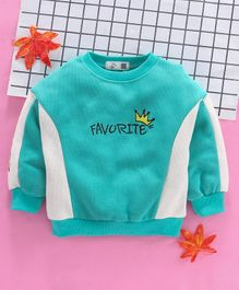 Kookie Kids Full Sleeves Tee Favorite Embroidered - Green