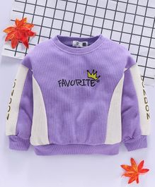 Kookie Kids Full Sleeves Tee Favorite Embroidered - Purple