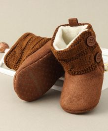 Cute Walk by Babyhug Ankle Length Booties - Brown